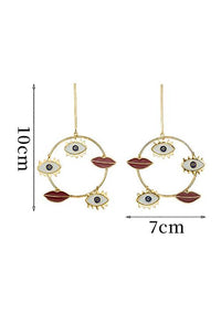 Bohemian Eyes Round Earrings