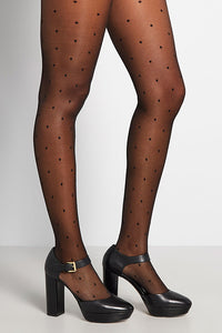 Dot Say a Word Sheer Tights