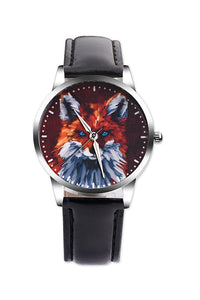 Fox Leather Watch