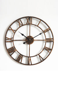 Non-Ticking Metal Roman Numeral Wall Clock