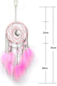 LED Moon Feather Dreamcather