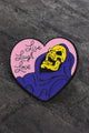 Live Laugh Love Skull Pin