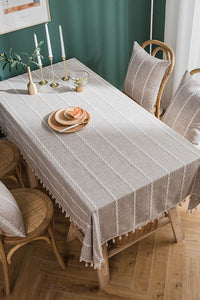 Tassels Solid Table Cloth