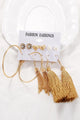 Tassels Circular Earrings Set