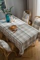 Plaid Tassels Table Cloth