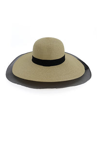 Mesh Patchwork Straw Hat