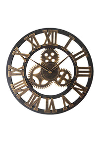 Vintage Gear Wooden Wall Clock