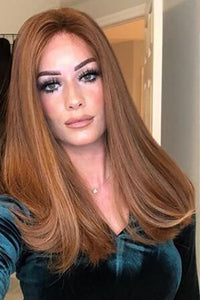 Medium Long Brown Wig