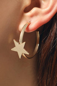 Star Metal Earrings