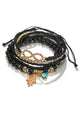 Rhinestone Plam Eyes Layer Bracelet