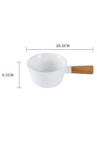 Ceramics Wood Handle Bowl