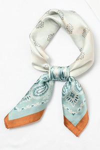 Print Color Block Neck Scarf
