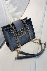 Metal Chain Square Shoulder Bag