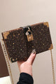 Sequin Square Chain Shoulder Bag