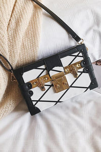 Square Printing Shoulder Bag