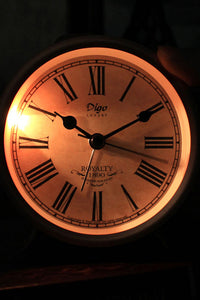 Red Metal Table Clock