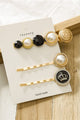 Pearl Crown Hair Clip Set