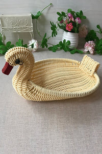 Imitation Rattan Duck Storage Basket