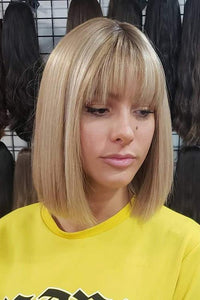 BOB Blonde Wig With Bangs