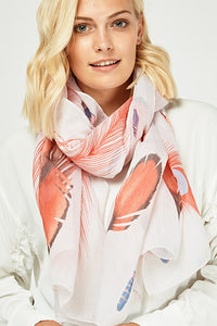 Feather Flamingo Scarf