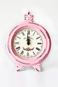 Shabby Wood Wall Clock Table Clock
