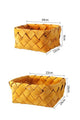 Bamboo Weave Rectangle Storage Basket