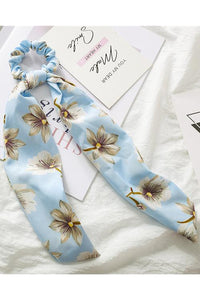 Print Ribbon Hair Scrunchie