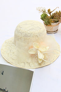 Lace Flower Hat