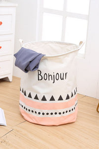 Geometry Linen Laundry Bag
