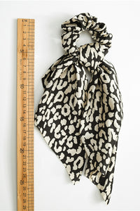 Leopard Print Scarf Ponytail Holder