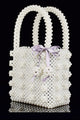 Luxe Pearl Beads Mini Tote
