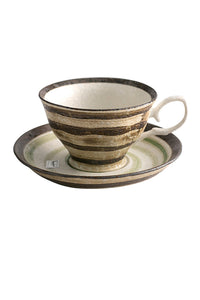 Glaze Creacmics Cup Whit Plate