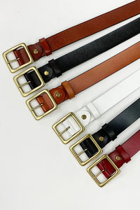 Square Leather Belt