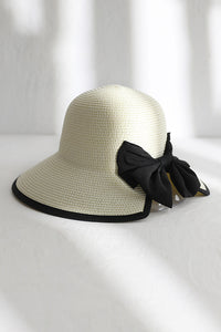 Bow Slit Straw Hat