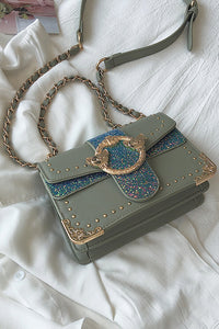 Sequin Chains Square Bag
