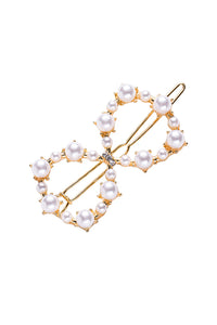 Pearl Heart Crown Bow Hairpin