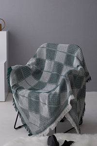 Plaid Tassels Blanket