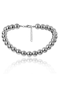 Punk Heavy Beads Thick Choker