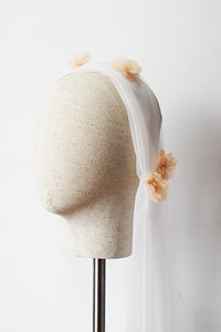 Cap Veils With Floral Applique