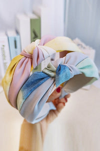 Color Block Knot Headband