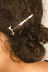 Rhinesthone Letter Hair Pin