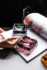 Glass Square Ashtray
