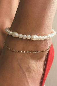 Pearl Layer Anklet Chains