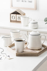 Simple Ceramics Cup Kettle Set