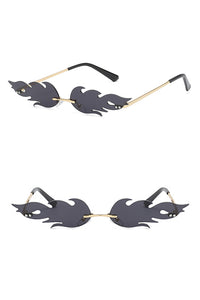 Rimless Fire Flame Sunglasses