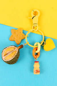 Durian Avocado Key Chain
