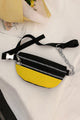 Zipper Color Block Fanny Bag