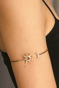 Adjustable Moon Star Bracelet