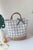 Rattan Patchwork Hand Bag