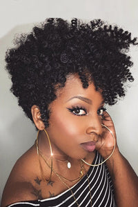 African American Curly Synthetic BOB Wigs